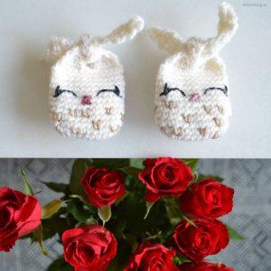 Tiny Tie Knots – Virkade små kaniner