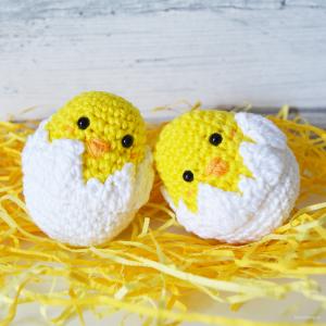 Virkad påskkyckling – Easter Baby Chick