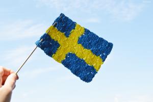 Virkad svensk flagga – c2c