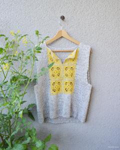 Virkad tröja – Tuberose Tunique