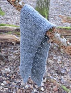 Virkad grå neutral halsduk